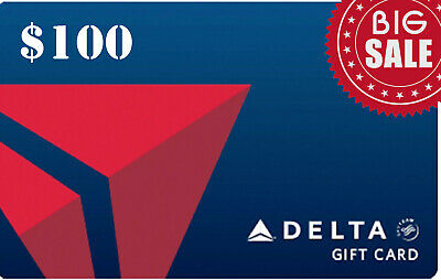 Delta Airlines Gift Card Delta.com | $ 100 USD | Fast Free Delivery