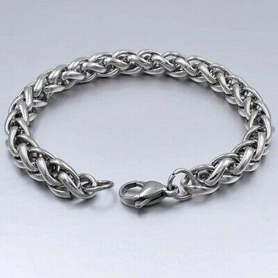 4mm Wheat Chain Bracelet 19cm 7.5 inches Stainless Steel Hypoallergenic UK 🇬🇧