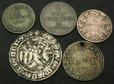 GERMAN STATES - Lot of 5 Coins. - 1055
