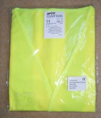 High Visibility Vest, NEW, Large,ARCO Essentials,Velcro,Waistcoat