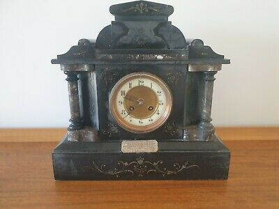 A1 292268 slate marble mantle clock