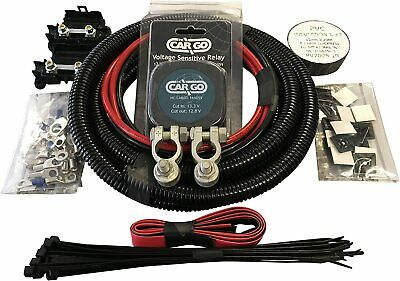 Split Charge Relay 3m kit with 12V 140amp With 10mm 70Amp Cable leisure battery