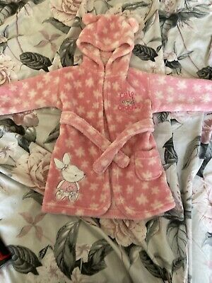 Baby Girls Fluffy Dressing Gown 6-12 Months