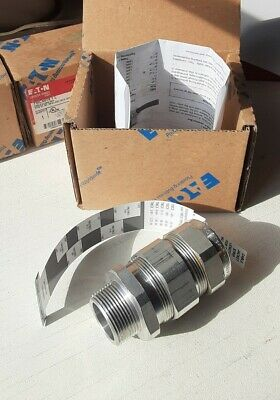 """Eaton Crouse-Hinds TMC4140 1/14"""" Armored Cable Grip Connector Terminator Fitting"""