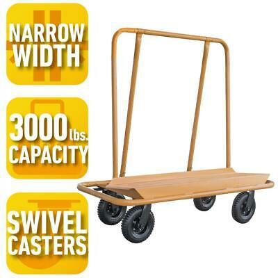 Dolly Cart Trolley Hauling Handling Panel Drywall Sheetrock Plywood 3000 lbs