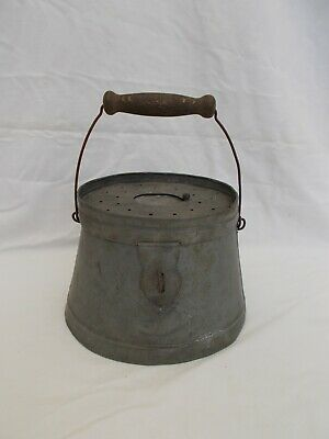 Ancienne Gougeonniere Zinc Art Populaire Peche Fish Fishing Antique French Old