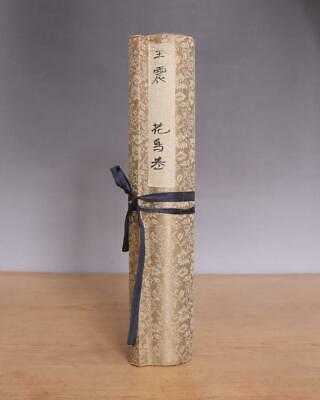 Wang Zhen Signed Old Chinese Hand Painted Calligraphy Scroll wBird
