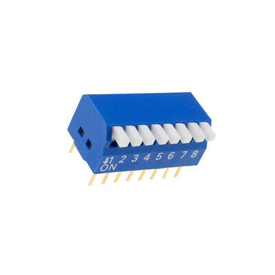 Switch: DIP-SWITCH Poles number: 8 ON-OFF 0.05A/12VDC Pos: 2 NINIGI