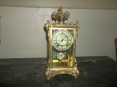 Antique Ansonia Crystal Regulator No Reserve