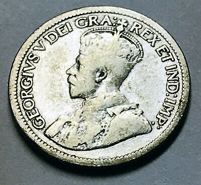 1934 Canada 10 Cent. VG. 80% silver. KM#23a. Nice looking coin.