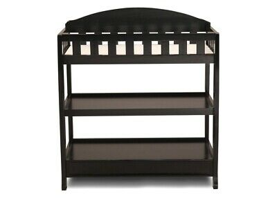 Brand New & Unopened!  Delta Children Wilmington Changing Table With Pad, Black