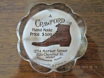 A Crawford Shoe Antique Advertising Paperweight