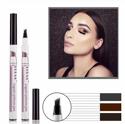 Eyebrow Water proof Tattoo Pen 4 Fork Tip Patented Microblading Ink Sketch UK