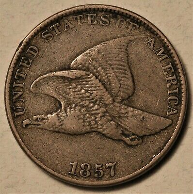 1857 Flying Eagle Cent Choice Original XF Lovely Patina Never Cleaned No Reserve