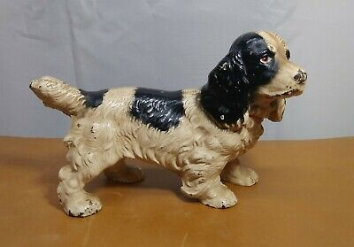 "Vintage Antique Spaniel bird Dog Cast Iron Doorstop Door Stop 7 3/4"" x 4 1/2"""