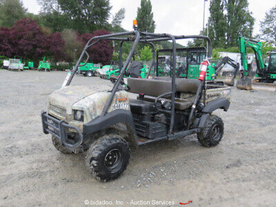 2014 Kawasaki KAF620 4WD Utility Vehicle Cart 4-Seater Gas Dump Bed UTV bidadoo