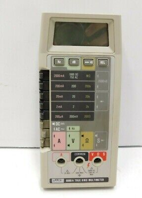 Fluke 8060A True RMS Multimeter - Tested & Works, No Leads (C2-1630)