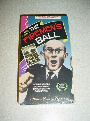 Rare New Vhs Firemens Ball Milo Forman 1968 In Color