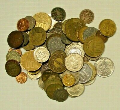 Lot of 87 Coins From Central And South America-Circulated