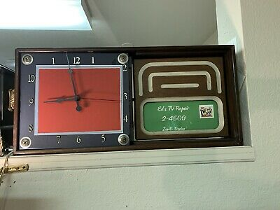 Vintage Automated Advertising Electric Clock