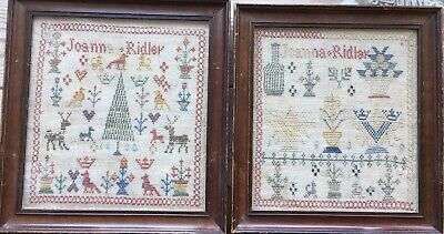 Two Joanna Ridley 1830 Antique Samplers