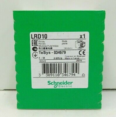 Schneider Electric LRD10 Thermal Overload Relay 4-6A TeSys 034679 (E2-1526)