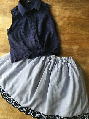 Excellent Condition Top and Skirt  Set  Age 11/12