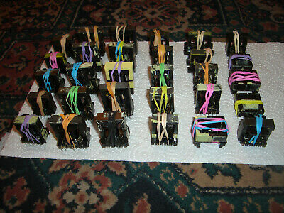 30 salvaged and striped ferrite cores with bobbins ex switchers please look