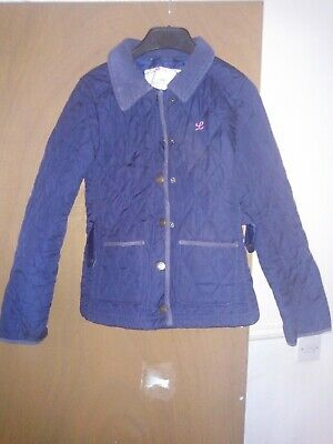 Girls navy Barbour style H&M jacket Size Euro 146