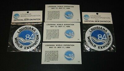 Lot of 7 Souvenirs - Patches, Doublooms - 1984 Louisiana World Exposition