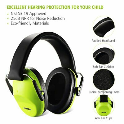 MPOW Foldable Children Kids Ear Muff Hearing Protection Loud Noise Reduction UK