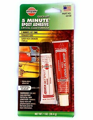 🌟Versachem 5 Minute Clear Epoxy Adhesive For Metal Wood Concrete Glass Rubber +