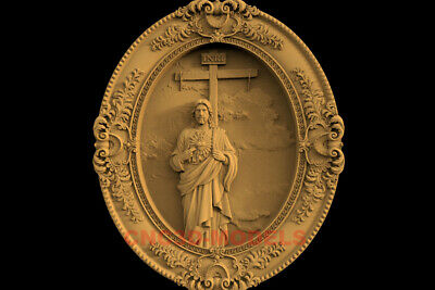 3D Model STL CNC Router Artcam Carving Religious Jesus Christ Religion IS28