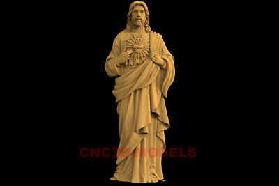 3D Model STL CNC Router Artcam Carving Religious Jesus Christ Religion IS30