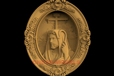 3D Model STL CNC Router Artcam Relief Religious Jesus Christ Religion IS21