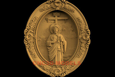3D Model STL CNC Router Artcam Carving Religious Jesus Christ Religion IS57