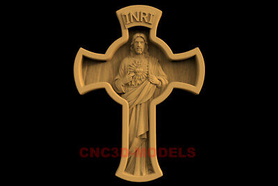 3D Model STL CNC Router Artcam Cross Religious Jesus Christ Religion IS31