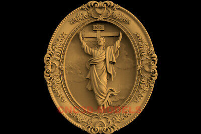3D Model STL CNC Router Artcam Relief Religious Jesus Christ Religion IS6