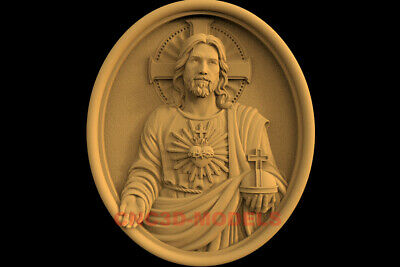 3D Model STL CNC Router Artcam Relief Religious Jesus Christ Religion IS32