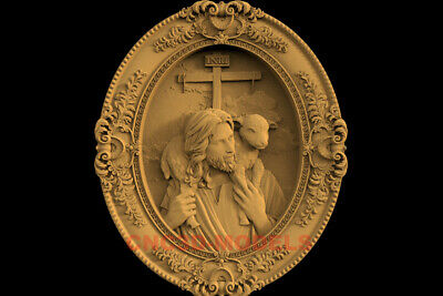 3D Model STL CNC Router Artcam Carving Religious Jesus Christ Religion IS47