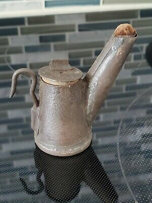Antique Miners Cap Lamp Oilwick
