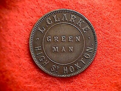 Green Man Hoxton 1-1/2d Pub Token