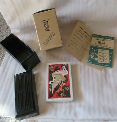 Vintage Single Deck Of Sealed Kem Playing Cards In Double Case/Nib