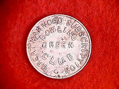 Great Harwood Bowling Club 3d Pub Token