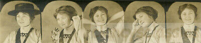 1917 Gem Miniature Photo Booth Strip Hat Telephone great poses