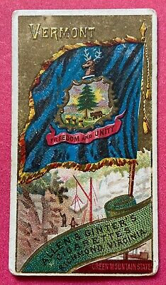 1888 Allen & Ginter N11 Flags of States & Territories Vermont