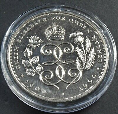 1900-1990 Queen Mother 90th Birthday Commemorative £5 Five Pound Coin