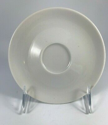 MITTERTEICH Bavaria GERMANY - SAUCER - SOLID WHITE, MODERN COUPE STYLE
