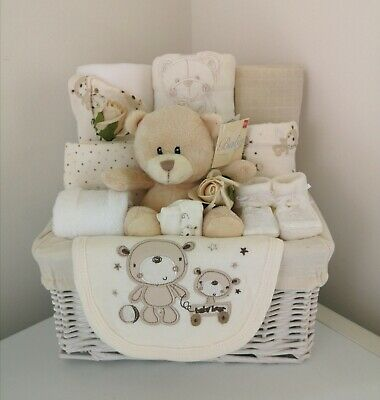 Baby Bear Gift Basket Hamper Neutral Unisex