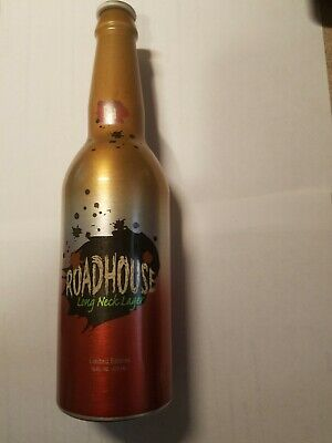 1 2006 Roadhouse Long Neck Lager Proto-Type Test Aluminum Beer Bottle Can Alu